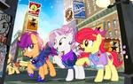 Cutie Mark Crusaders Reunion by PixelKitties