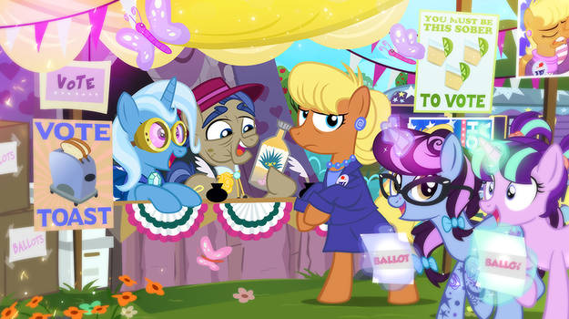 Voting Day at the Ponyville Polls