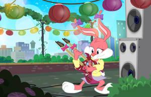 Rooftop Rabbit Recital by PixelKitties