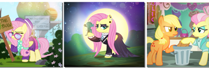The Three Faces of Fluttershy by PixelKitties