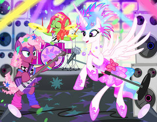 Celestia Live in the Eighties by PixelKitties
