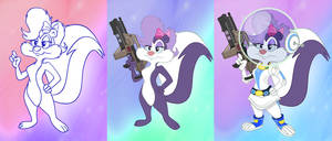 Space Suit Skunk Stages