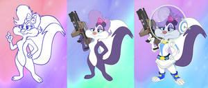 Space Suit Skunk Stages by PixelKitties