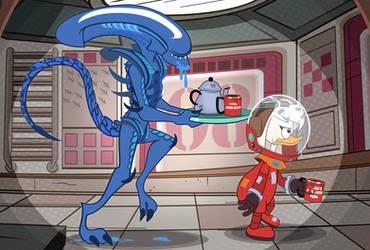 Space Cars, Lattes, Aliens by PixelKitties