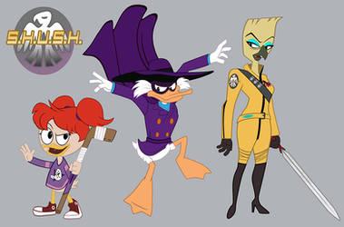 Darkwing Duck Character Designs 001- Good Guys by PixelKitties