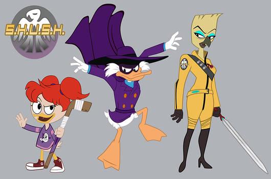 Darkwing Duck Character Designs 001- Good Guys