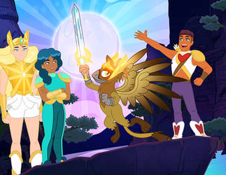 She-Ra and the Griffon of Power! by PixelKitties