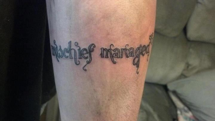Mischief Managed tattoo by irishsparrow67 on DeviantArt
