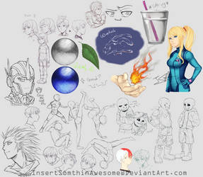 End of 2018 Sketch Dump 2 by InsertSomthinAwesome