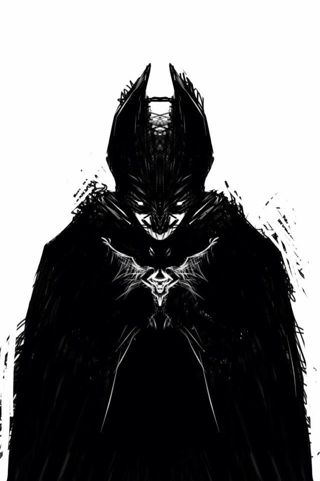 Symbiote Batman by Szwedameister - 39.8KB