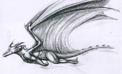 Flight sketch coal by Thalathis