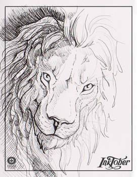 Inktober2016 - 5 - lion