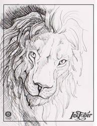 Inktober2016 - 5 - lion by Thalathis