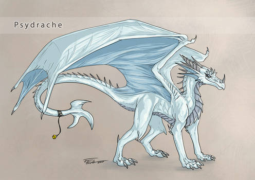 Psydrache - cell shaded concept sketch