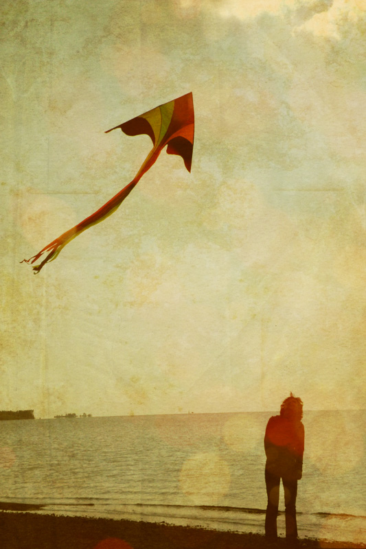 flying a kite by romanica