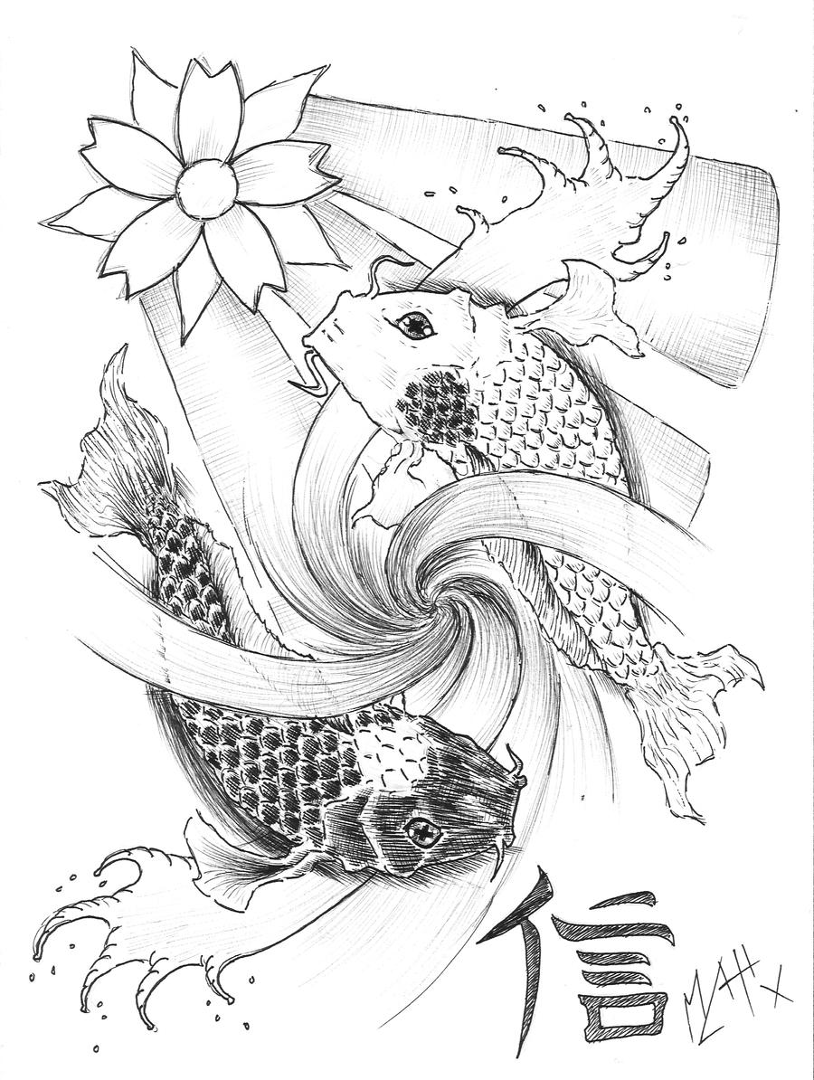 Yin Yang Koi by LePurple on DeviantArt