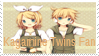 stamp! Kagamine twins fan by annette-edelweiss