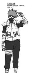 TNR Manga character Bardock by drayden18