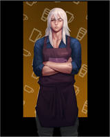 OC Khar - Barista attire by drayden18