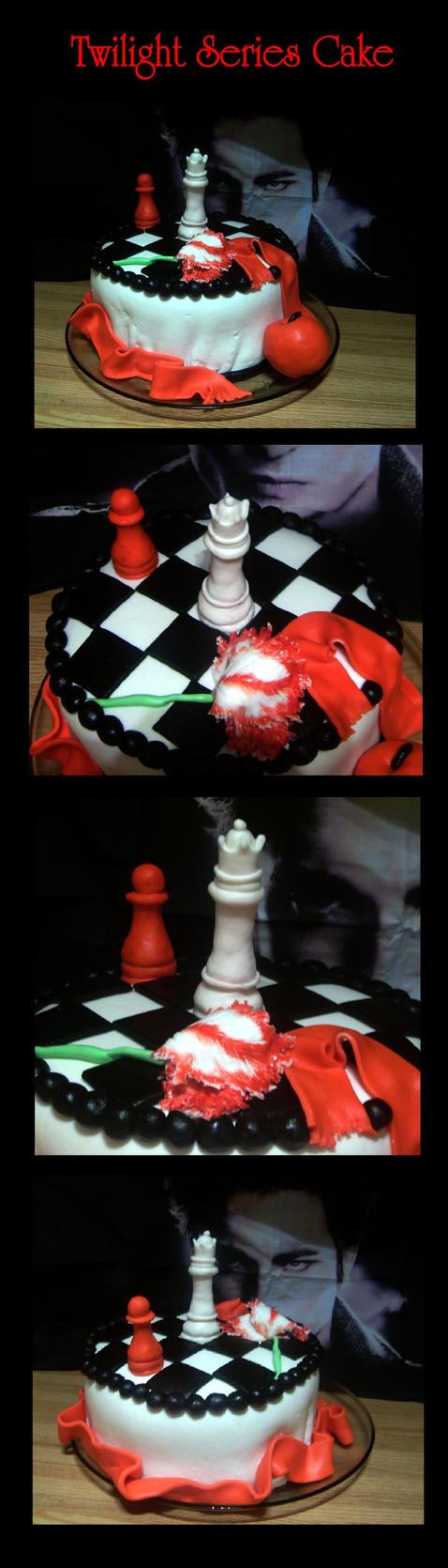 Twilight Series Birthday Cake by martiowlsten
