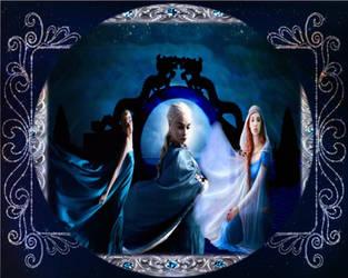 Rhapsody In Blue and Silver by lisamarimer