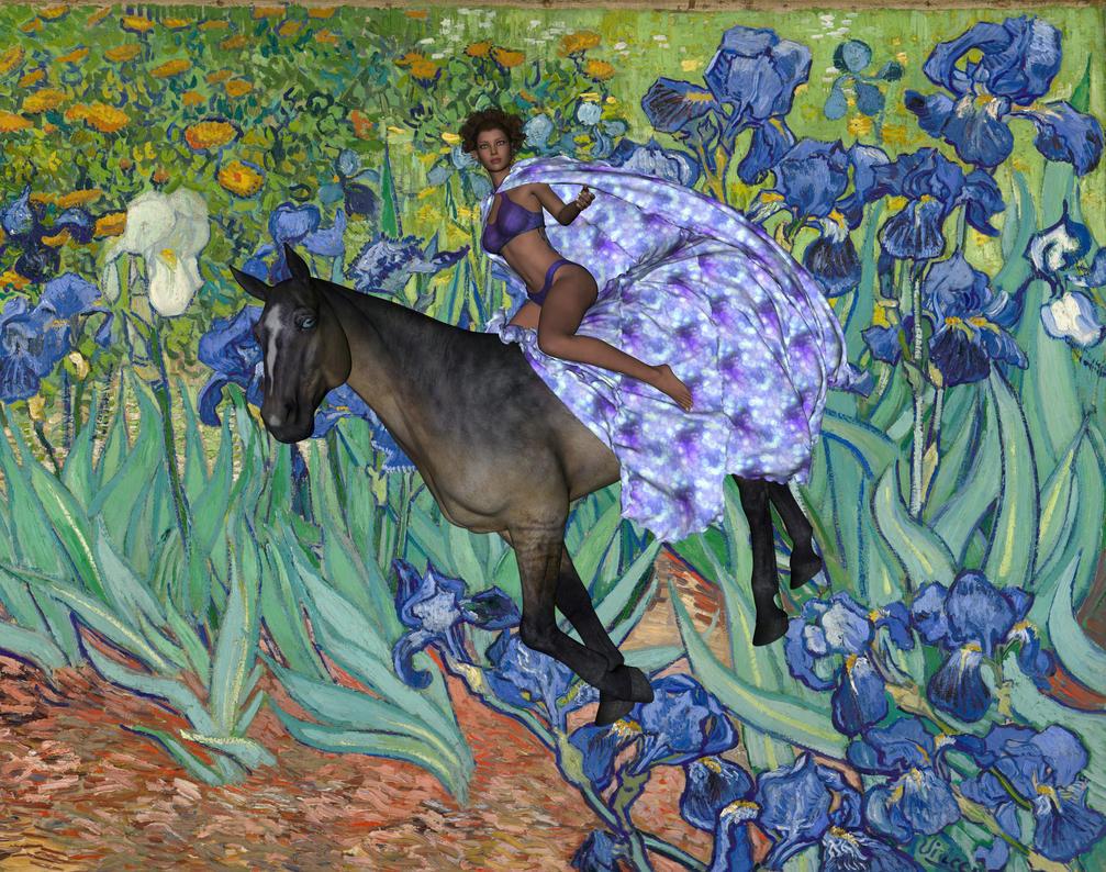 Iris Takes a Ride by lisamarimer
