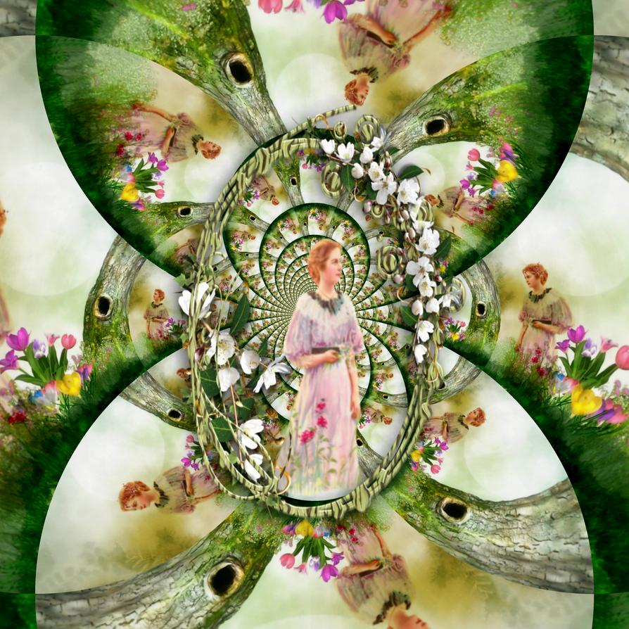 Tiptoe through the Tulip Garden by lisamarimer