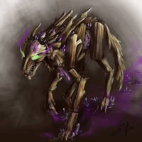 Commission: Corrupted Timberwolf by SilFoe