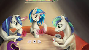 Commission: Game Night by SilFoe