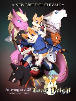 Corgi Knight Poster