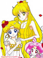 Princess Serenity and Princess Venus by Mileyangel321