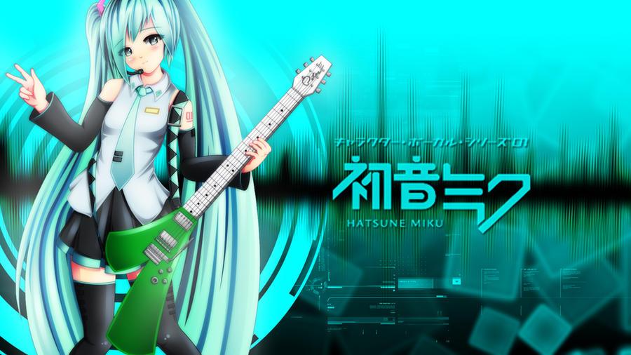 Hatsune Miku Leek Guitar by Exiled-Artist