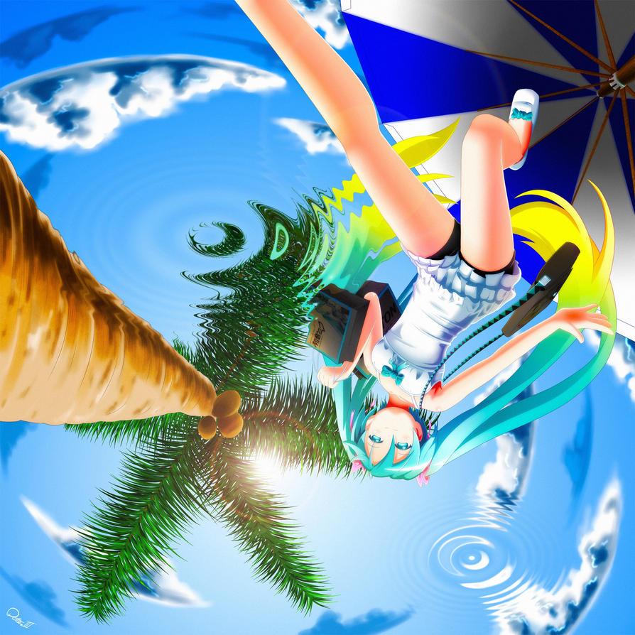 Hatsune Miku Summer Time By Exiled Artist On Deviantart