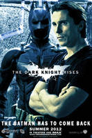 The Dark Knight Rises Bruce Wayne poster by DComp