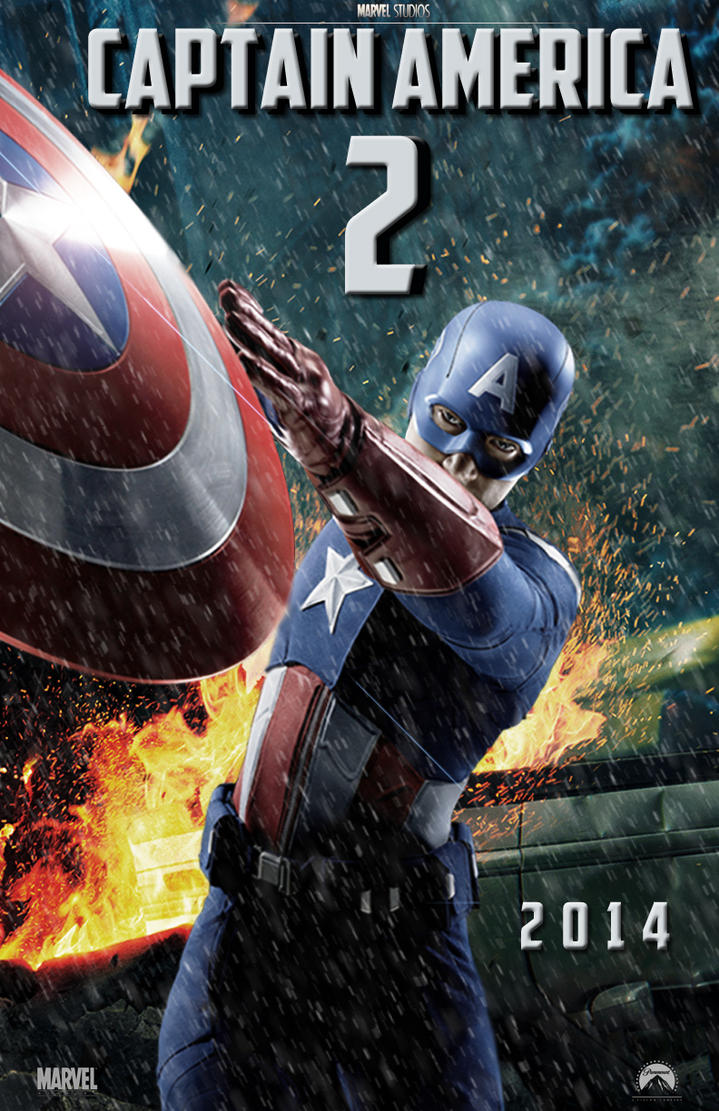 captain america 2 movie poster by dcomp on deviantart
