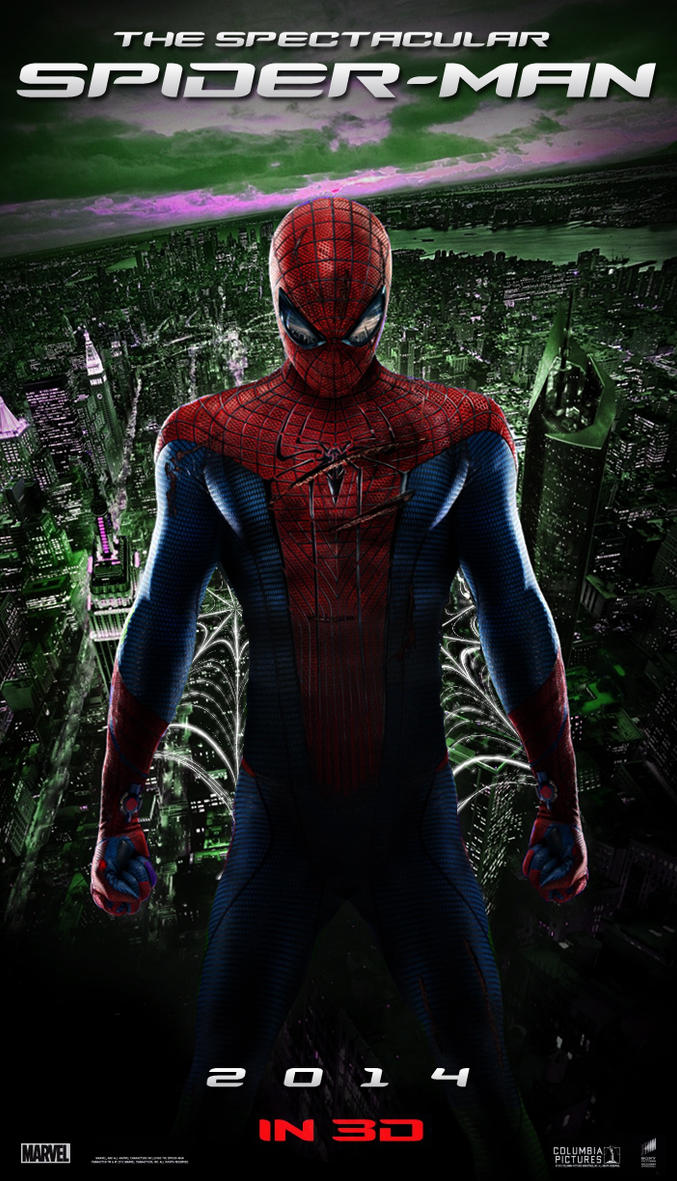 the spectacular spiderman 2014 movie poster by dcomp on