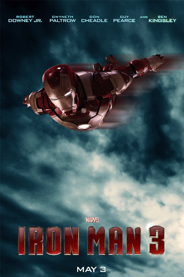 Iron Man 3 movie poster by DComp