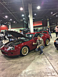 Toyota Supra at Tuner Galleria Chicago by DComp