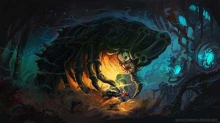 Super Metroid Draygon vs Samus by knight-mj