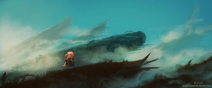 The Scrapyard Cliffs by knight-mj