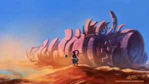 Desert Scrapyard - Wreckage