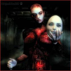 Behind a mask -colour by originalkitten