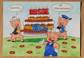 Three little pigs by TedJohansson