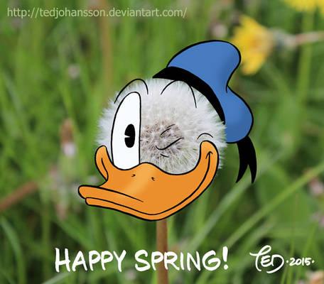 Donald as a dandelion