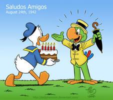 Donald congratulates Jose by TedJohansson