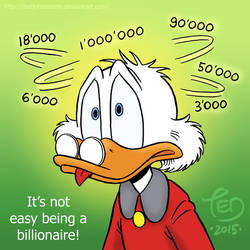 It's not easy being a billionaire by TedJohansson