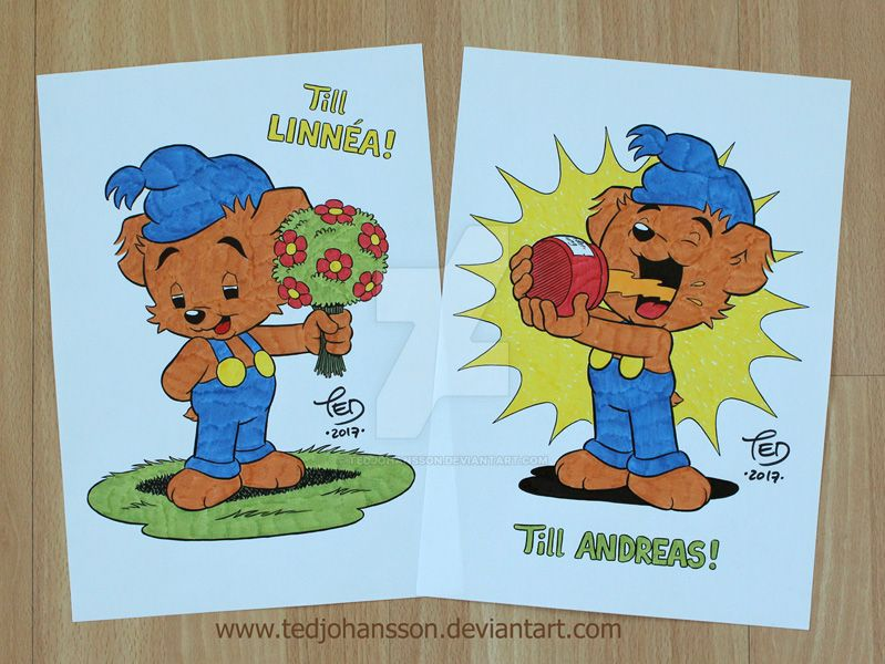 Bamse drawings by TedJohansson