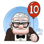 The 10th anniversary of Pixar's UP by TedJohansson