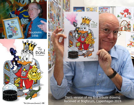 Don Rosa's version of my first tribute drawing