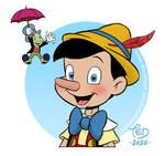 Pinocchio and Jiminy Cricket by TedJohansson